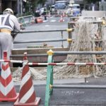 道路工事の現場写真